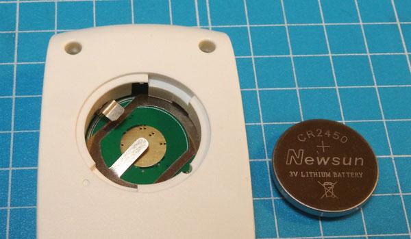 温度データロガー RC-4とRC-4HCの電池 CR-2450